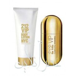 A COFF. SET CAROLINA HERRERA 212 VIP EDP + BODY LOTION WOMEN