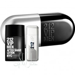 A COFF. SET CAROLINA HERRERA 212 VIP EDT 100ML + AFTER SHAVE 100ML MEN