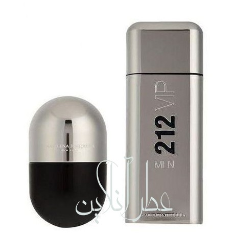 A COFF. SET CAROLINA HERRERA 212 VIP EDT 100ML + EDT 20ML MEN