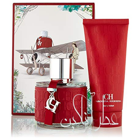 A COFF. SET CAROLINA HERRERA CH EDT 100ML + BODY LOTION 100ML WOMEN