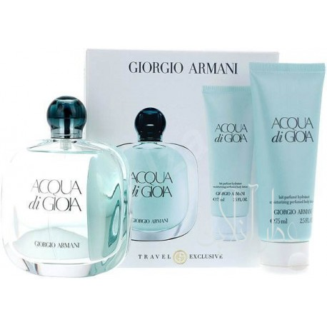 A COFF. SET GIORGIO ARMANI ACQUA DI GIOIA EDP 100ML + BODY LOTION 75ML WOMEN