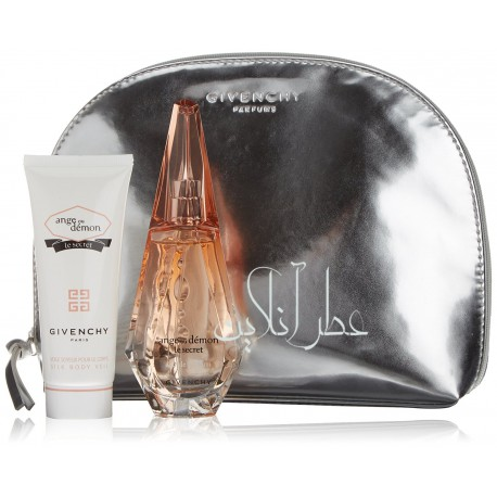 A COFF. SET GIVENCHY ANGE OU ETRANGE LE SECRET EDP 50ML + SILK BODY VEIL 100ML + BAG WOMEN