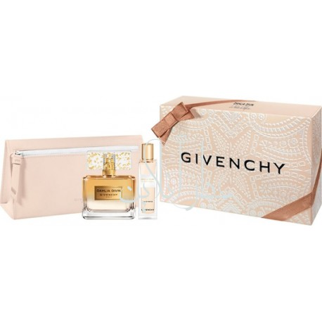 A COFF. SET GIVENCHY DAHLIA DIVIN LE NECTAR DE PARFUM EDP INTENSE 50ML + 15ML + BAG WOMEN
