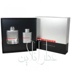 A COFF. SET PRADA LUNA ROSSA EDT 100ML + GEL DOUCHE 100ML + BAG MEN